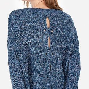 EXPRESS multi-color cable knit 🧶 SWEATER!!